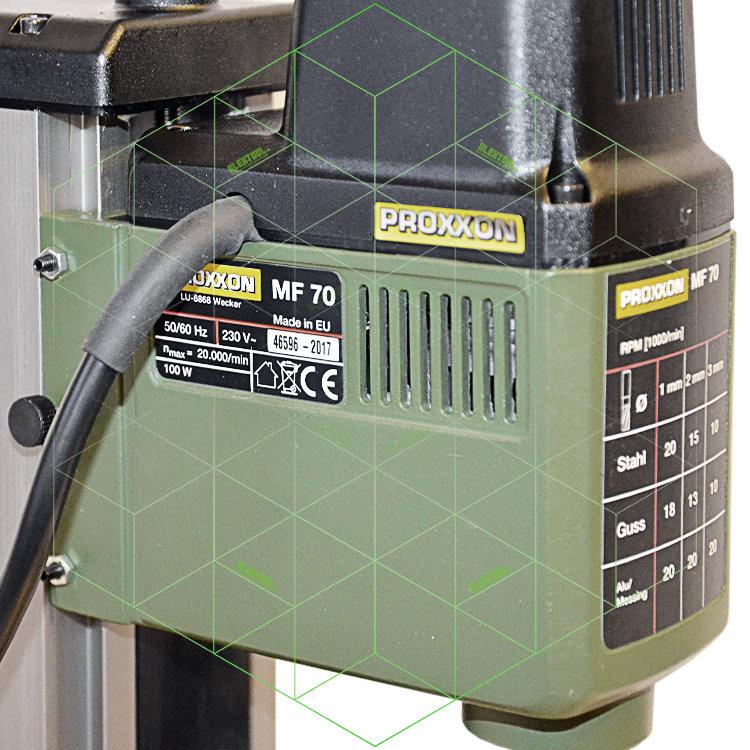 Микро-фрезерный станок Proxxon MF 70 высокоточный по дереву и металлу